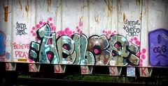 hence (timetomakethepasta) Tags: hence oqb believe pray freight train graffiti art benching selkirk new york photography