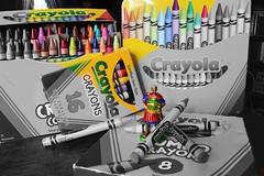 Week 38: Purloined Pigment (Piedmont Fossil) Tags: caesar color crayon pigment