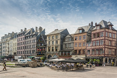 Rouen-4-1 (stevefge) Tags: france normandy rouen houses market buildings architecture reflectyourworld street people