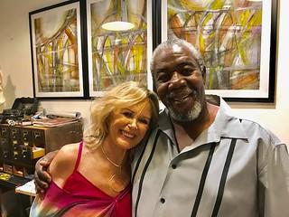 Artists Karen Dielke with Robert McKnight in his studio at Kroma