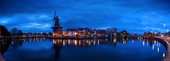 De Adriaan Panoblue (l.cutolo) Tags: tlp water slowshutterspeed cloudysky pano longexposure city windmill stackphotos ncg night summer reflections haarlem bluehours sonya7ii flickr cityscape worldtrekker molen cloudy citylight dhrlike panoramic sonyfe2470mmf40zaoss