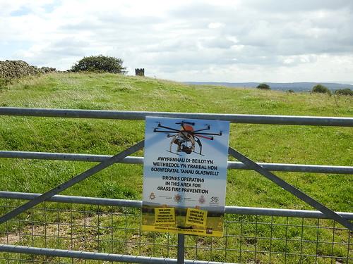 Drone Warning, Folly Lane, Trevethin, Pontypool 19 August 2017
