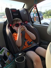 """Paul Wears Sunglasses While Eating an Apple in the Car • <a style=""""font-size:0.8em;"""" href=""""http://www.flickr.com/photos/109120354@N07/36539301701/"""" target=""""_blank"""">View on Flickr</a>"""