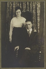 Calvin Koontz collection -  38 - Huron Felten and wife Emma Haag