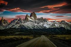 Red Sky (Valter Patrial) Tags: vermelho pordosol estrada montanha aventura paisagem red sunset road mountain adventure landscape patagonia sol sun inexplore