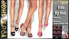 Andria High Heels (YM SHOP) Tags: outdoor winter talr tale maitreya body event hair shop catwa catya hands vista blog blogger emily avatar manken model fashion firestorm 2life work world white blue dress