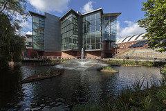 Bridgewater Hall (andyrousephotography) Tags: manchester bridgewaterhall concertvenue hallé symphony orchestra bridgewaterbasin basin pond cleancityfund cityco rivertrust aquaticscientists biomatrix floating ecosystems plants wildlife fish andyrouse canon eos 5d mkiii ef1740mmf4l