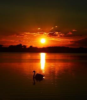 Lough Erne sunset.