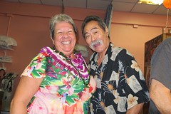 Betty & Gary (BarryFackler) Tags: southkonaphysicaltherapy southkonaphysicaltherapy10thanniversary celebration party friends physicaltherapy smallbusiness aloha captaincookhawaii kealakekuaranchcenter clinic medicaloffice 2017 happy hawaii southkona polynesia westhawaii hawaiiisland captaincookhi gary friend guest bettyfackler betty bettybowen physicaltherapist smile smiling smiles lei alohashirt people indoor