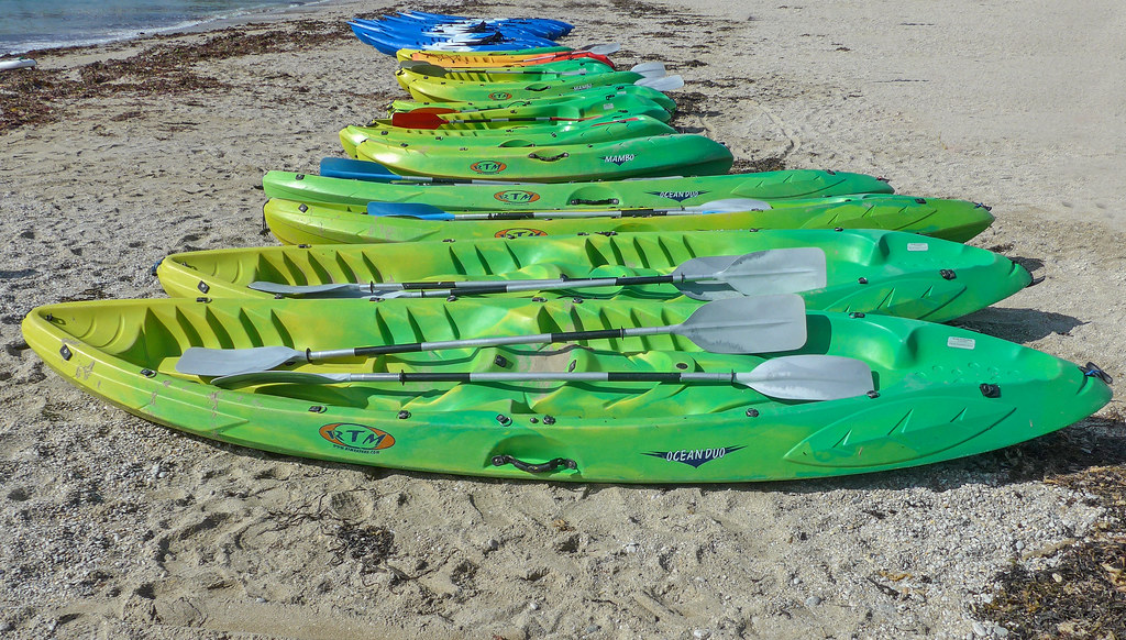 Canoes on Swanpool Beach