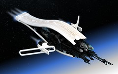 EC21-Cruiser - 'Ellipsis' (Inthert) Tags: lego moc shiptember ship space sleek black white research exhibition