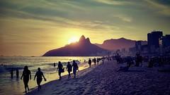 Ipanema Beach, sunset, Rio de Janeiro (Gizy&Marco) Tags: sunset ipanema rio riodejaneiro brazil