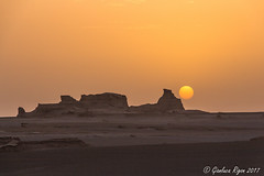 Sunrise at Kalut desert (Gianluca Rigon - pictures from the world) Tags: alba sunrise kalut desert iran 2017 holiday travel adventure asia kerman