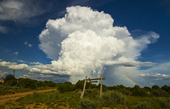 New Mexico - Route 54 (Matt Champlin) Tags: thunderstorm thunder amazing storm stormy weather clouds rain rainy raining night desert country rural summer roadtrip mountains newmexico route54 eclipse west ranch alone peace peaceful nature landscape sunset rainbow canon 2017