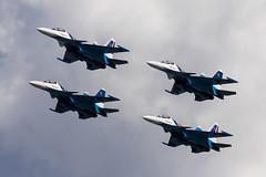 Russian Knights - 91 (NickJ 1972) Tags: zhukovsky maks 2017 airshow aviation russianknights sukhoi su30 flanker