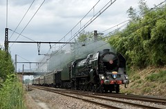 241P 17, tombereau, DEV Inox et USI (SylvainBouard) Tags: cfc sncf 241p steamengine train railway