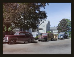 TV Delivery! - 1954 (Michael Paul Smith) Tags: 1954 diecast model cars 1948 ford 1953 chevy pickup 1952 jeep delivery truck