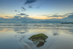 Rocky Daybreak Seascape (Merrillie) Tags: daybreak uminabeach sand landscape nature australia newsouthwales rocks uminapoint nsw blue beach sunrise water umina sea photography dawn outdoors seascape sky centralcoast clouds waterscape