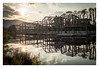 abstract without purpose (muellerinnen-art) Tags: china houses water unfinished steel metal frames sun reflection digital adobe lightroom sunset floating green sky travel asia 2016 nikon nikkor forms shapes fullframe d700 abandoned