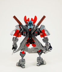Past Protector of Iron - Back (0nuku) Tags: bionicle lego 2015 protector villager steel iron knockoff bootleg