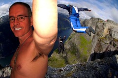 Monte Soaring to New Heights 9 1 2017 (Monte Mendoza) Tags: montemendoza cliff heights altitude jump ua armpit underarm axila malechest smile smiling shirtless noshirt mountain png acrophobia