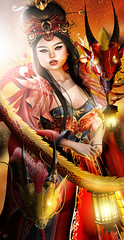 Qiulong (meriluu17) Tags: aii egosumaii theuglybeautigul dragon dragons chinese empire empress red yellow orange light lighs power fantasy surreal people portrait japanese pet animal wild magical