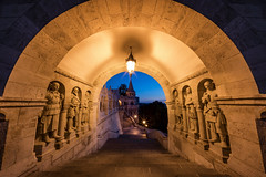 Are You Looking At Us- (JH Images.co.uk) Tags: budapest hdr dri night fishermans bastion fishermansbastion bluehour twilight symmetry symmetric guards