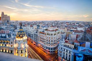 Sunset at the Circulo de Bellas Artes rooftop