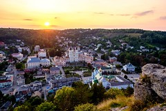 Sunset in Kremenets (meleshko.alex) Tags: europe ukraine sun sunset architecture city kremenets clouds goldenhour fujifilm fuji fujinon xt1 hdr