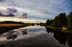 September river (Joni Mansikka) Tags: nature outdoor river sky clouds reflections trees fields colours rural landscape paimionjoki paimio suomi suomi100 finland finland100 canonef2470mmf28lusm