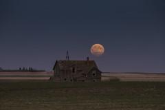 September (gerrypocha) Tags: moon fall september harvest prairie saskatchewan derelict abandoned ruin rot