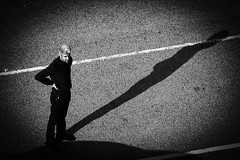 The shadow (andersåkerblom) Tags: streetphotography streetphoto street monochrome blackandwhite