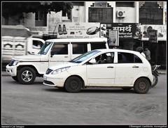 Let's Have a Race! (sairamreddy3) Tags: tata vista mahindra bolero sidebyside race racing carvscar ulkanagari garkheda aurangabad maharashtra india world canondigital digicam ixus95is photoscape