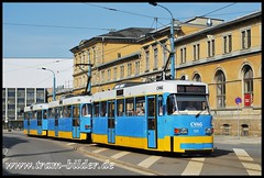 521-2010-04-24-Bahnhofstraße (steffenhege) Tags: chemnitz strasenbahn tram streetcar ckd t3dm 521