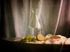 Autumn Still Life ... (MargoLuc) Tags: grapes lemon fruits bottle glass carafa natural soft window light shadows water classic stilllife
