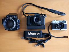 Mamiya family (zoltannagel) Tags: mamiya family 645 super medium format zm 35mm 135ee rangefinder film camera japan porn