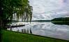 17-07-5 mec schaals pan wolk refl dsc_0120 (u ki11 ulrich kracke) Tags: horizont mecklenburgvorpommern panorama reflektion schwimmbadnatur see steg trauerweide wolkezart 7dwf landscape