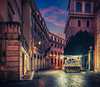 Rome Market (Alexander Michael Hill PhotoGraphics) Tags: alleyscene fruitstand isolated market night quiet rome