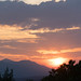 sunset over the slovenian mountains