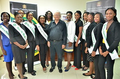 National Farm Queen Contestants Pay Courtesy Call on Agriculture Minister