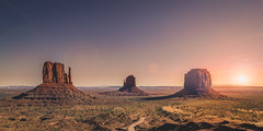 Sunrise over monument valley (DST-photography) Tags: utah usa america american sunrise sunset glory skyglory orange skyscape monument valley arizona travel photography nikon d3100