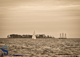 Sailing by Charles Island
