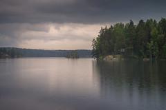 Rainy lake (Jyrki Salmi) Tags: jyrki salmi ristiina finland rain rainy lake island isle clouds