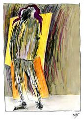 Wolfram Zimmer: Stands - Steht (ein_quadratmeter) Tags: wolframzimmer bilder kunst malerei gemälde wolfram zimmer konzeptkunst objektkunst mein freiburg burg birkenhof kirchzarten ausstellung ausstellungen peinture exhibition exhibitions zeichnung tusche besen ink broom besom