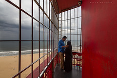 Evening (kevinkishore) Tags: people love lighthouse marina beach clouds sky grill romance married