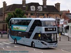 less Co2 emissions (Cymru Coastliner) Tags: nottinghamcitytransport nct scania scanian280ud enviro400city biogas biogasbus bus 426 yp17ufj nottingham