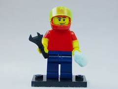 Brick Yourself Custom Lego Figure Racing Mechanic New Dad
