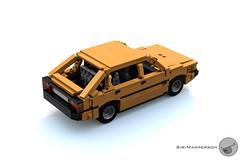 '87 FSO Polonez rear aerial - 10-wide - Lego (Sir.Manperson) Tags: lego moc polonez poland render ldd