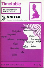United NBC Bus Timetable (Scarborough / Whitby Area) 1978 (Ray's Photo Collection) Tags: united 1978 scan timetable scanned document nbc bus buses booklet scarborough whitby north yorkshire yorks unitedautomobileservices