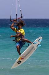 Kite Surfer, Sotavento Beach, Fuerteventura (chrisgj6) Tags: canaryislands beach spain fuerteventura kitesurfing kitesurfer coast sotavento sea pájara canarias es